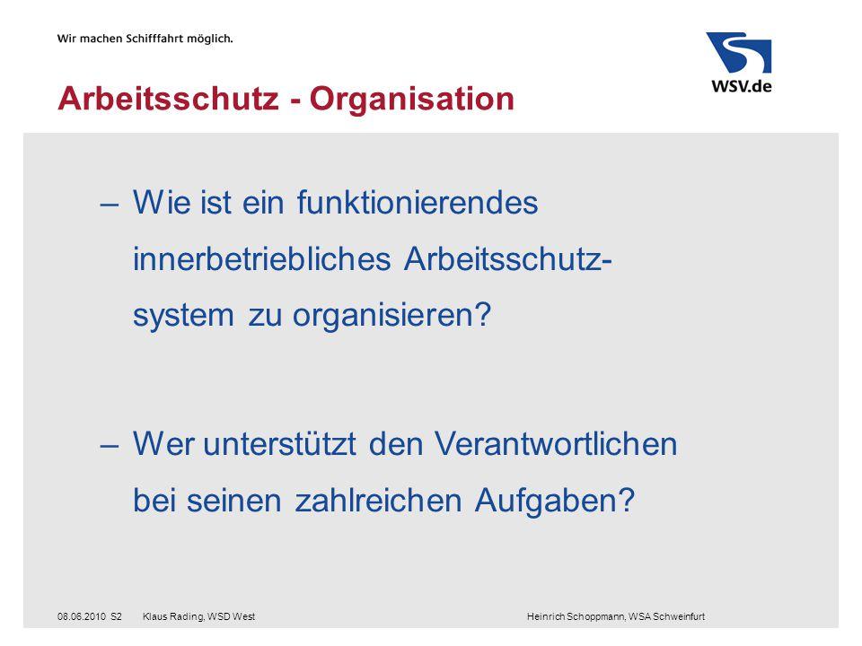 Arbeitsschutz - Organisation