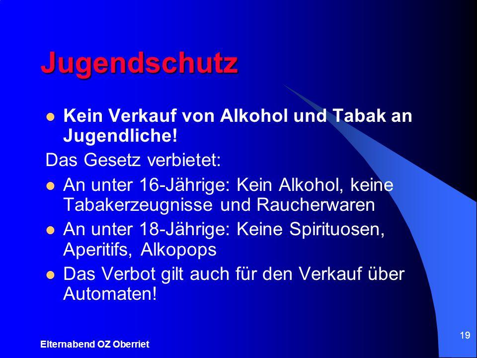 Jugendschutz Kein Verkauf von Alkohol und Tabak an Jugendliche!