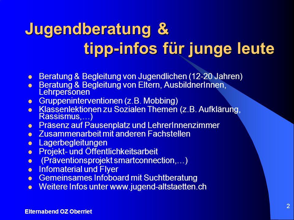 Jugendberatung & tipp-infos für junge leute