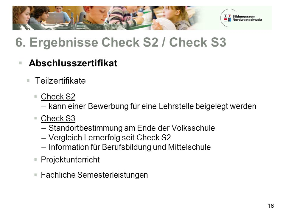 6. Ergebnisse Check S2 / Check S3