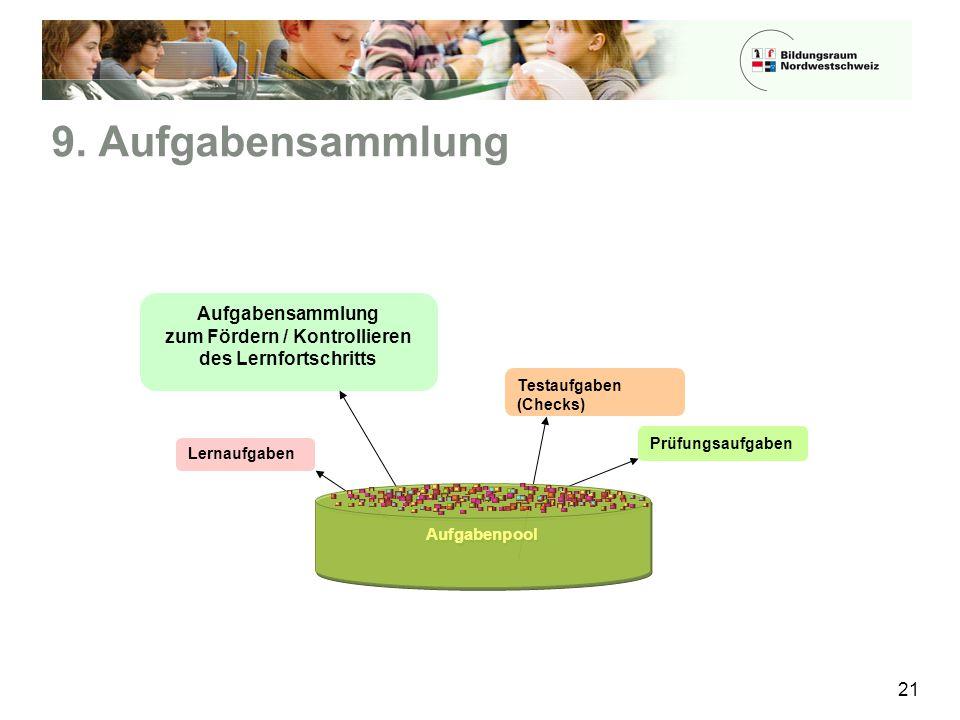 Aufgabensammlung zum Fördern / Kontrollieren des Lernfortschritts