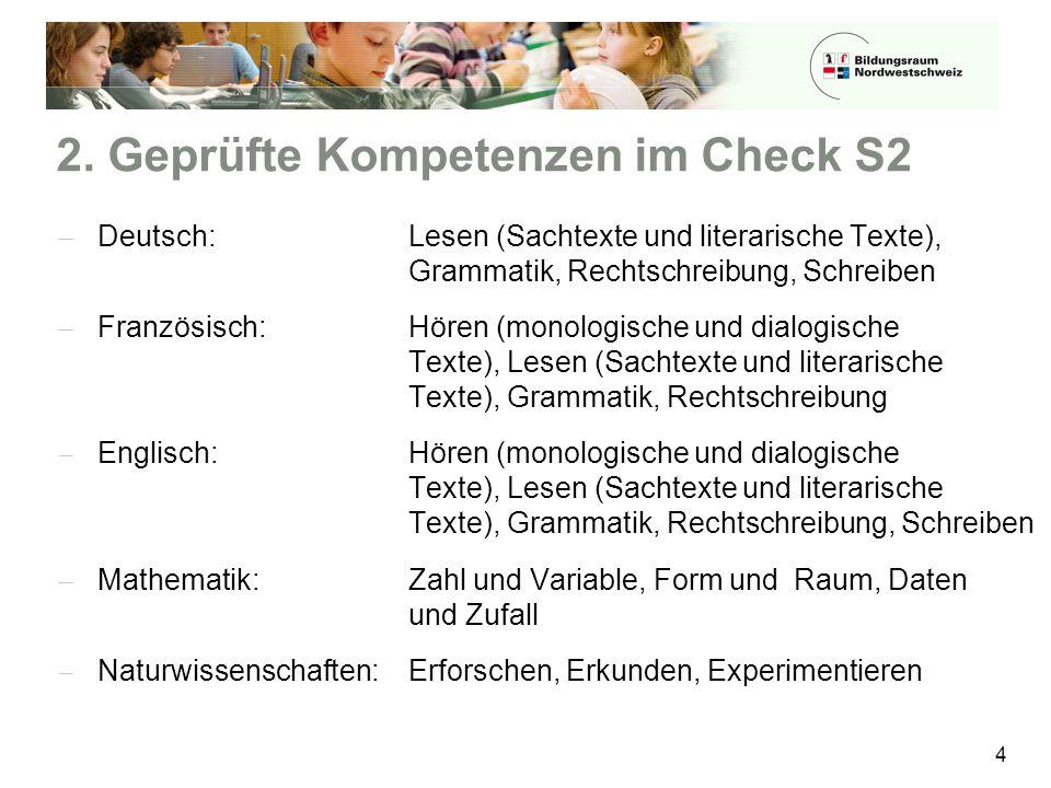 2. Geprüfte Kompetenzen im Check S2