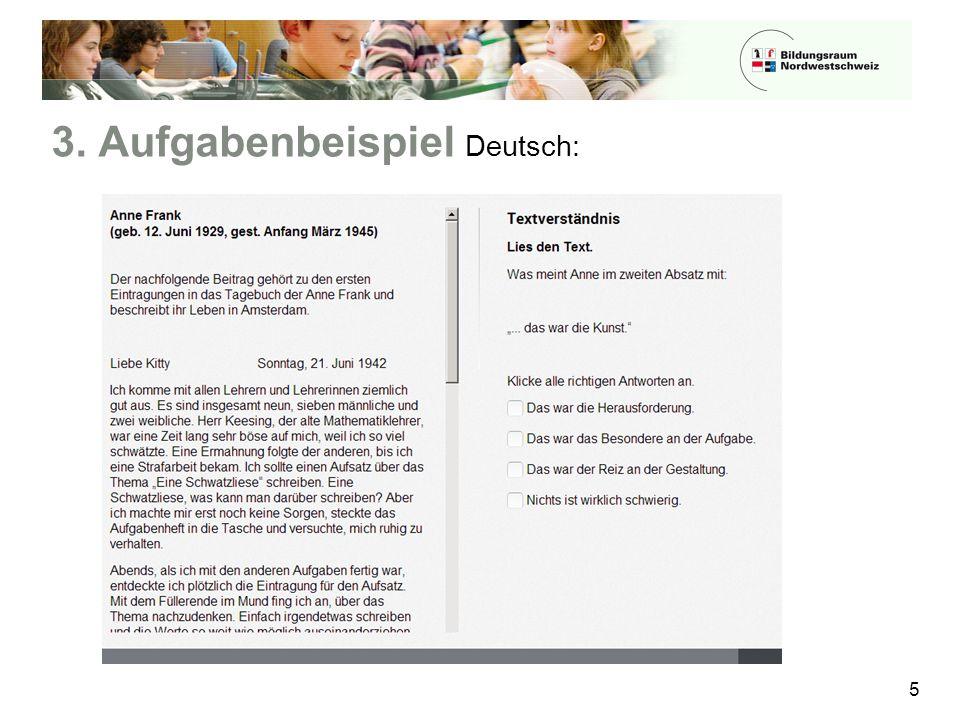 3. Aufgabenbeispiel Deutsch: