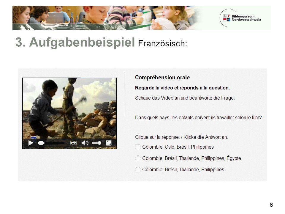3. Aufgabenbeispiel Französisch: