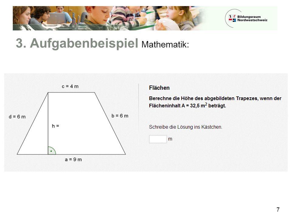 3. Aufgabenbeispiel Mathematik: