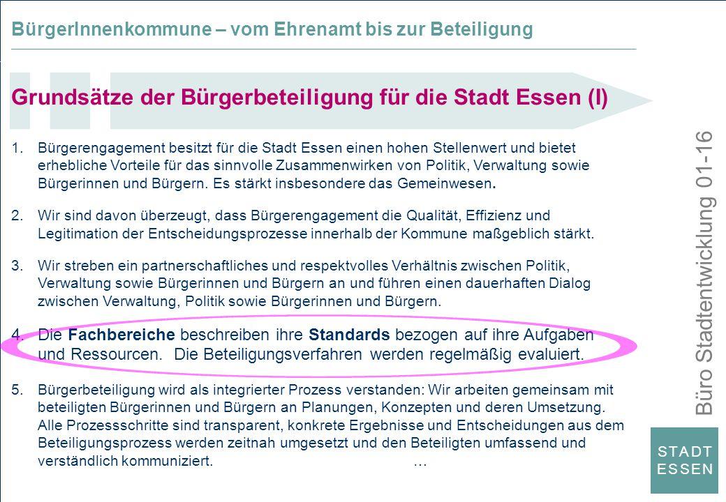 Grundsätze der Bürgerbeteiligung für die Stadt Essen (I)