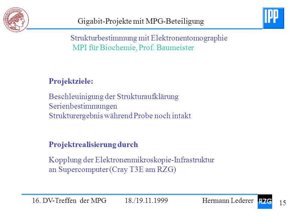 Strukturbestimmung mit Elektronentomographie