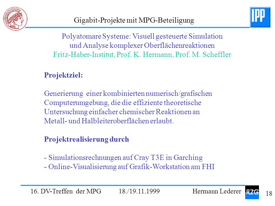 Polyatomare Systeme: Visuell gesteuerte Simulation