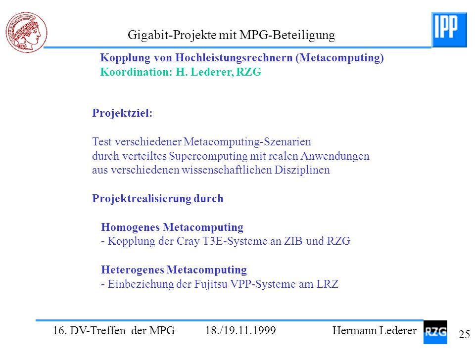 Kopplung von Hochleistungsrechnern (Metacomputing)