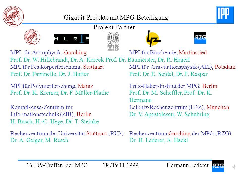 Projekt-Partner MPI für Astrophysik, Garching MPI für Biochemie, Martinsried.