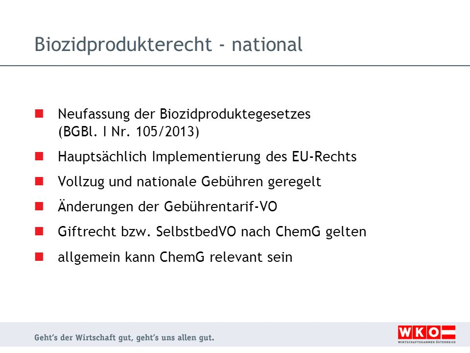 Biozidprodukterecht - national