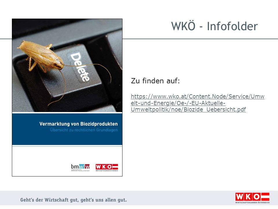 WKÖ - Infofolder Zu finden auf: