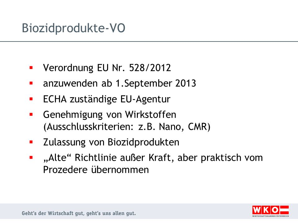 Biozidprodukte-VO Verordnung EU Nr. 528/2012