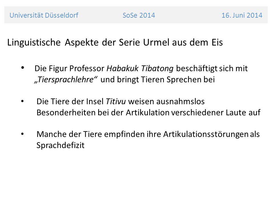 Universität Düsseldorf SoSe 2014 16. Juni 2014