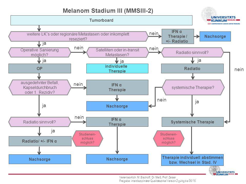 Melanom Stadium III (MMSIII-2) Therapie individuell abstimmen