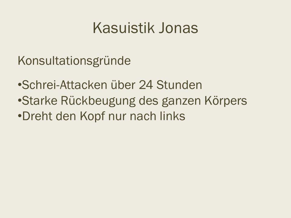 Kasuistik Jonas Konsultationsgründe Schrei-Attacken über 24 Stunden