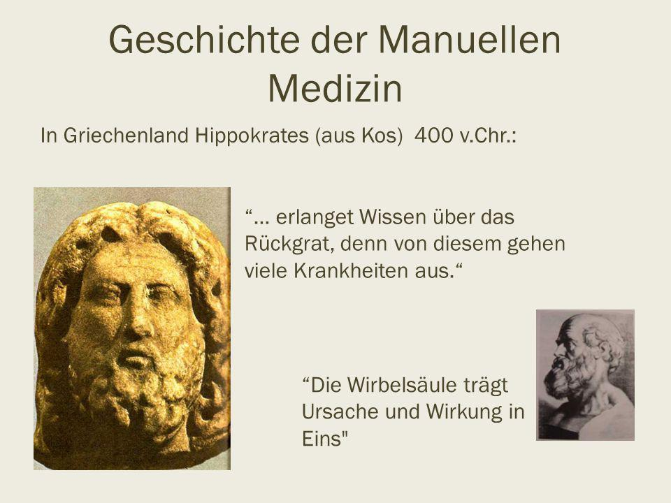 Geschichte der Manuellen Medizin