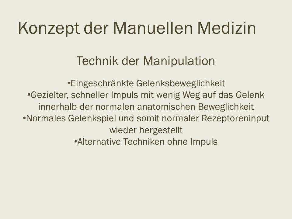 Konzept der Manuellen Medizin