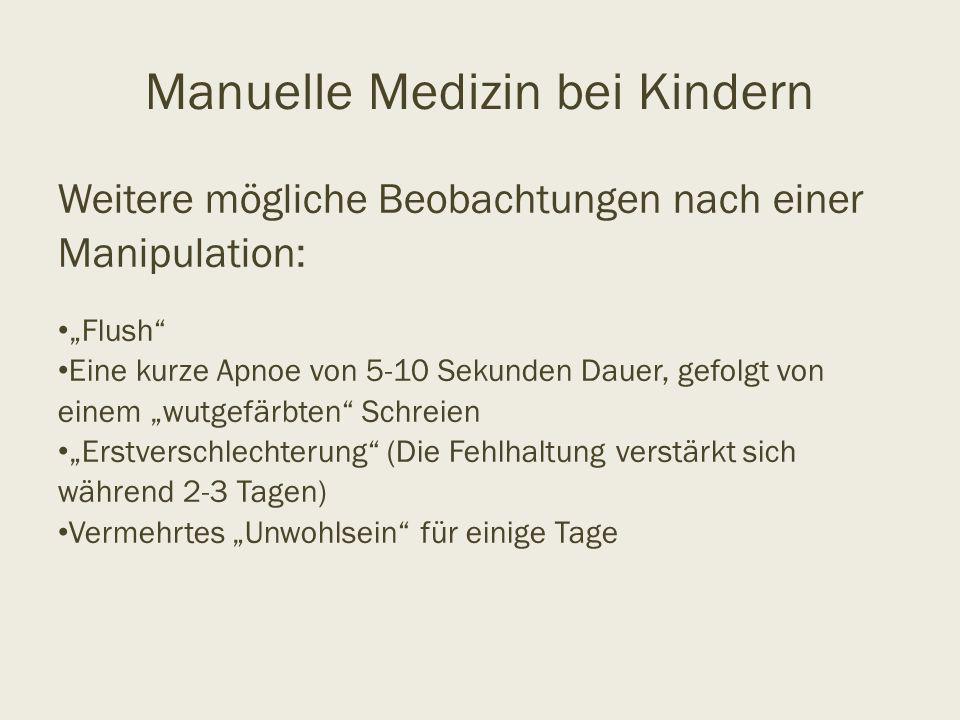 Manuelle Medizin bei Kindern