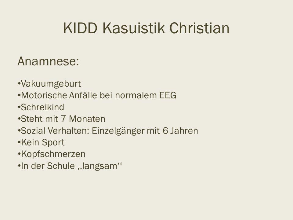 KIDD Kasuistik Christian