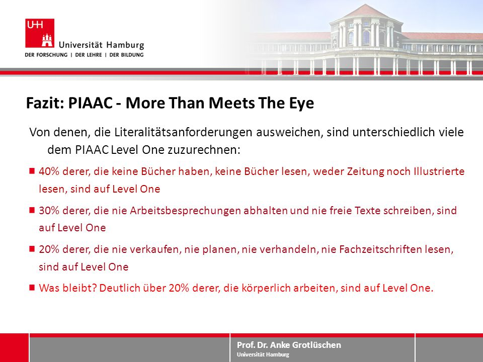 Fazit: PIAAC - More Than Meets The Eye