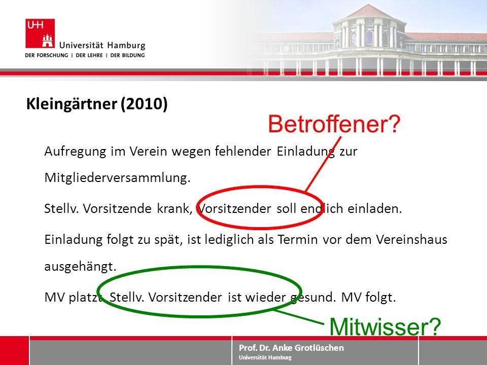 Betroffener Mitwisser Kleingärtner (2010)