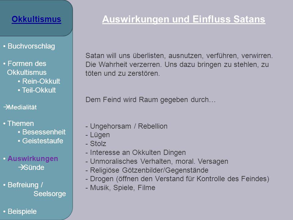 Auswirkungen und Einfluss Satans