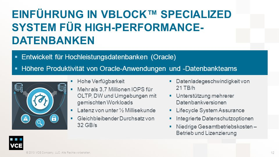 Einführung in Vblock™ Specialized System für High-Performance-Datenbanken