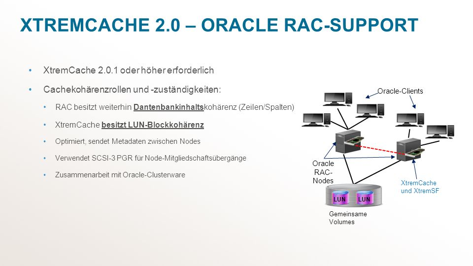 XtremCache 2.0 – Oracle RAC-Support