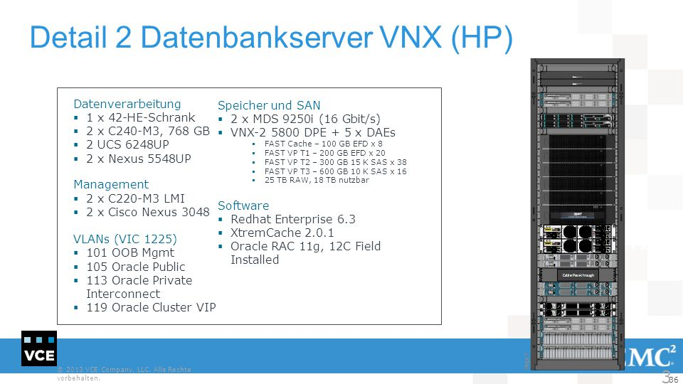 Detail 2 Datenbankserver VNX (HP)