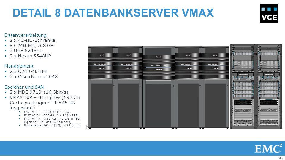 Detail 8 Datenbankserver VMAX