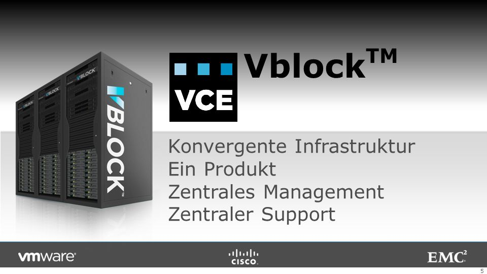 VblockTM Konvergente Infrastruktur Ein Produkt Zentrales Management