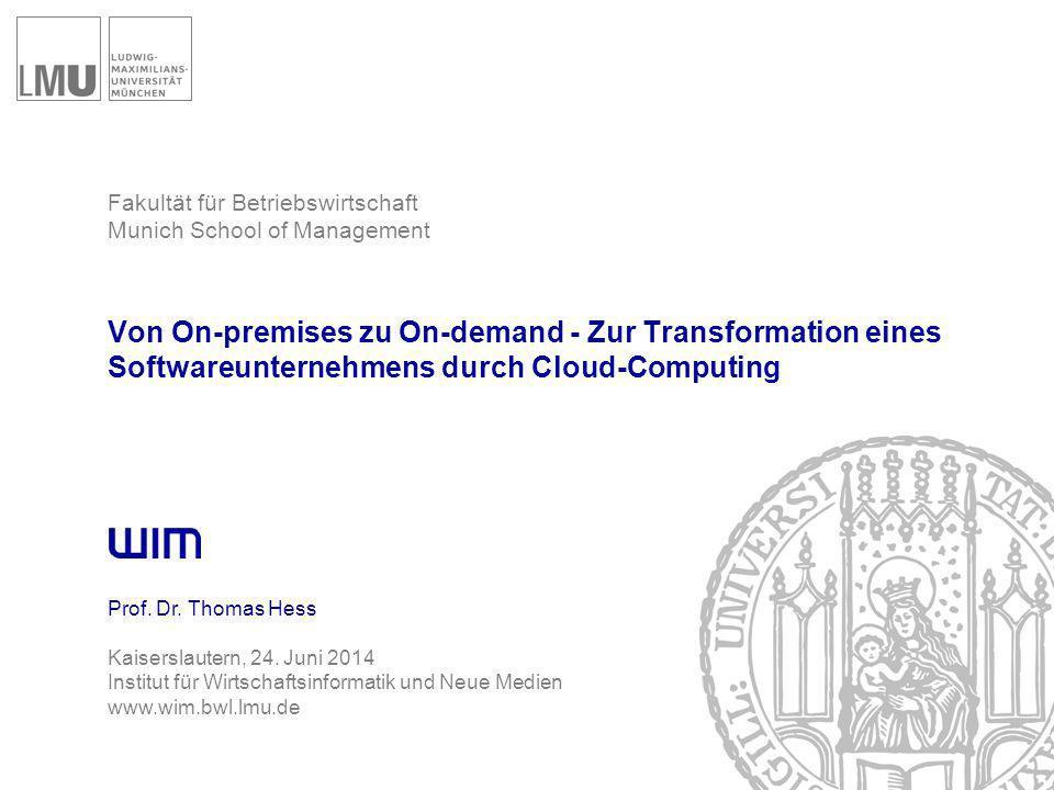 Agenda Cloud Computing und die Software-Industrie
