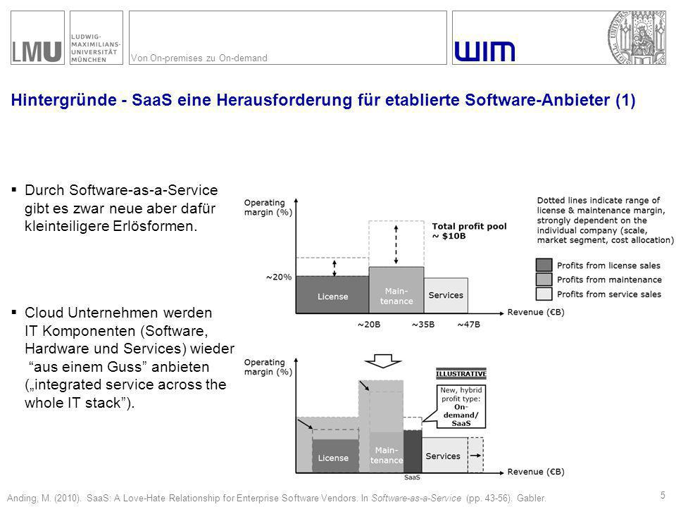 Hintergründe - SaaS eine Herausforderung für etablierte Software-Anbieter (2)