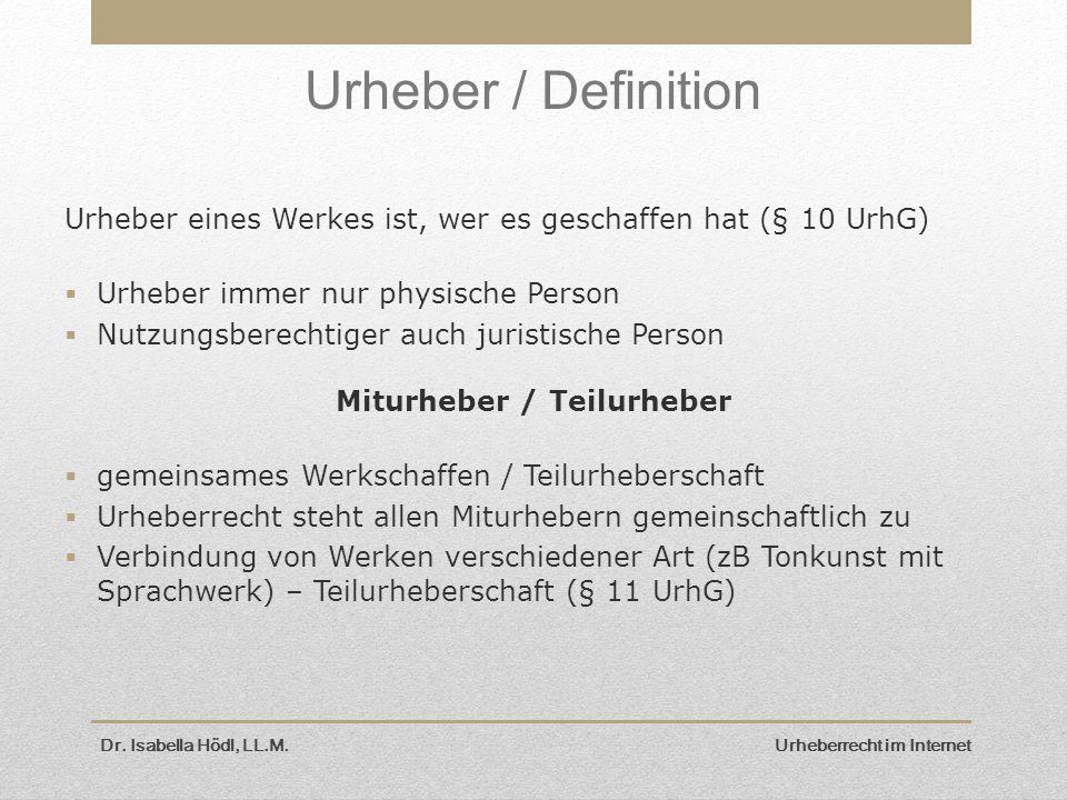 Miturheber / Teilurheber