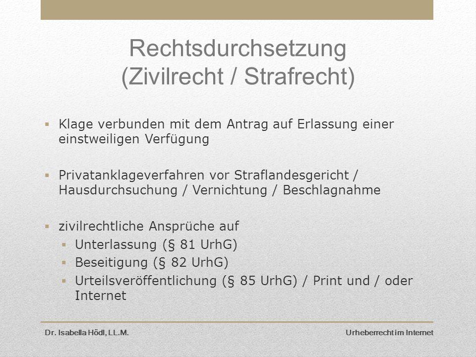 Rechtsdurchsetzung (Zivilrecht / Strafrecht)