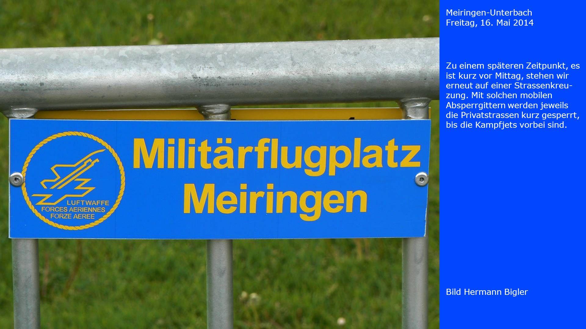 Meiringen-Unterbach Freitag, 16. Mai 2014.