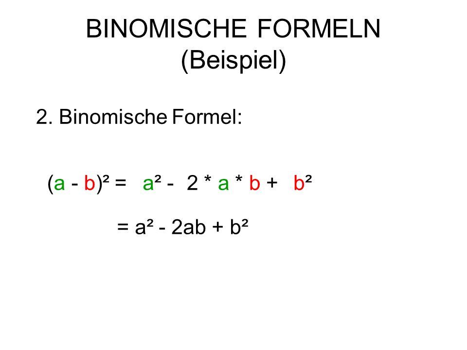 BINOMISCHE FORMELN (Beispiel)