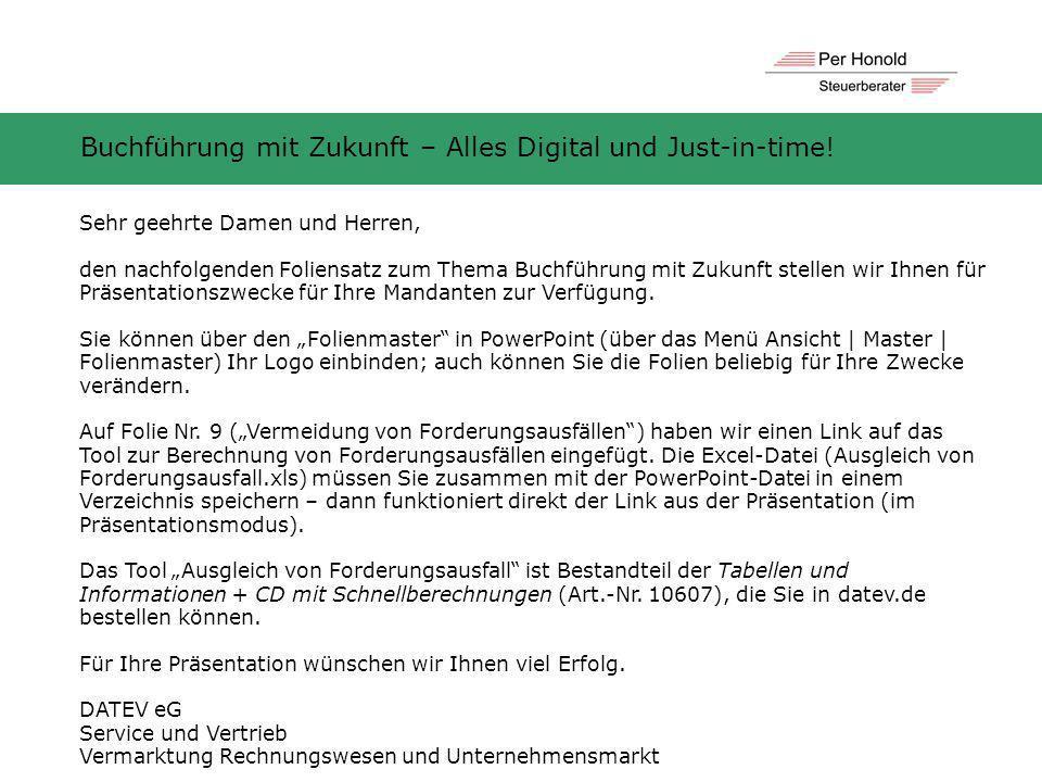 Buchführung mit Zukunft – Alles Digital und Just-in-time!