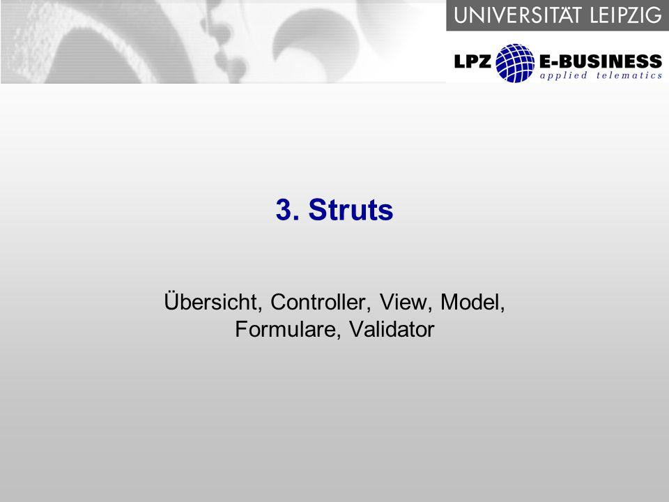 Übersicht, Controller, View, Model, Formulare, Validator