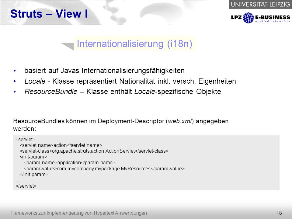 Internationalisierung (i18n)