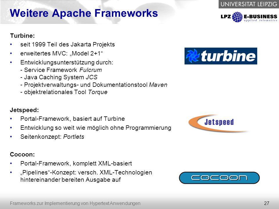 Weitere Apache Frameworks