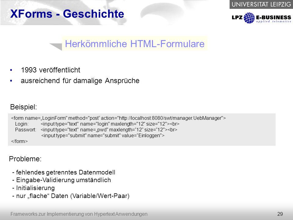 Herkömmliche HTML-Formulare