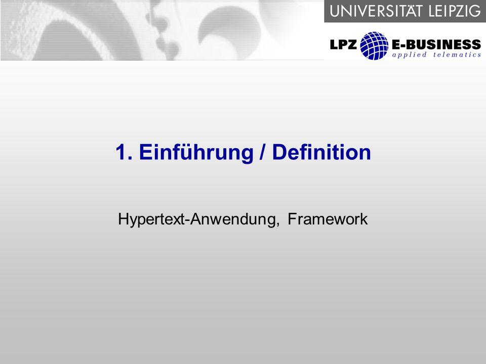 1. Einführung / Definition