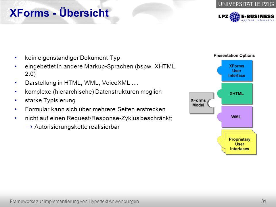 XForms - Übersicht kein eigenständiger Dokument-Typ
