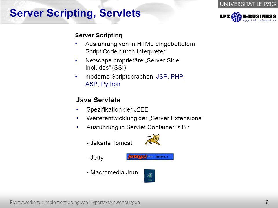 Server Scripting, Servlets