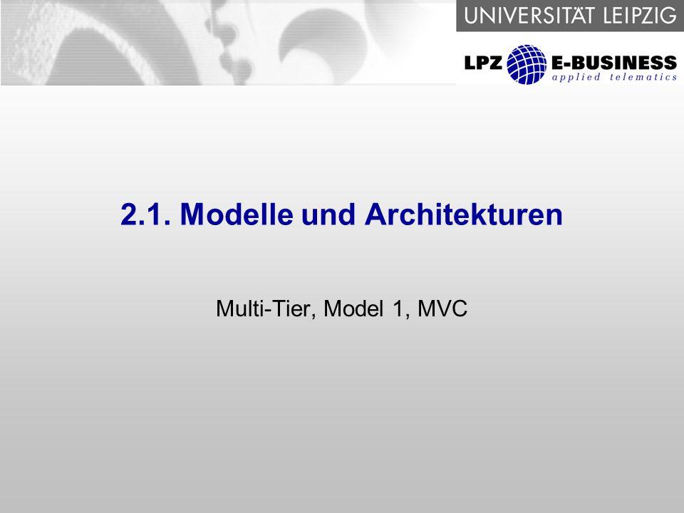 2.1. Modelle und Architekturen