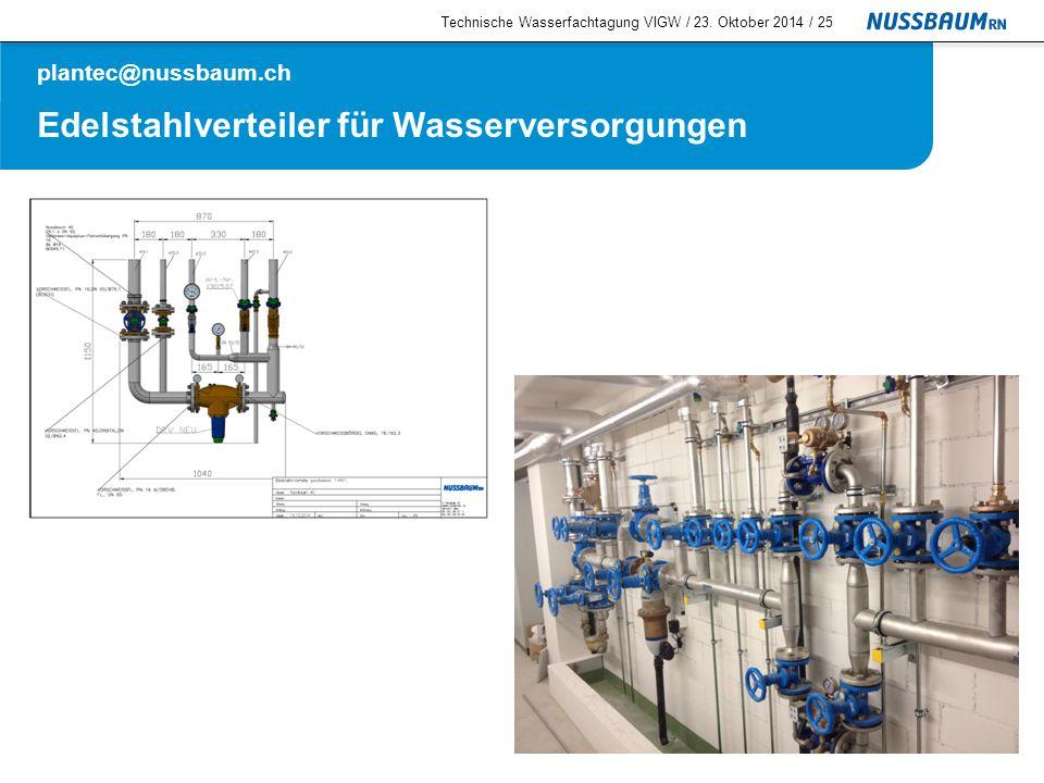 Edelstahlverteiler für Wasserversorgungen