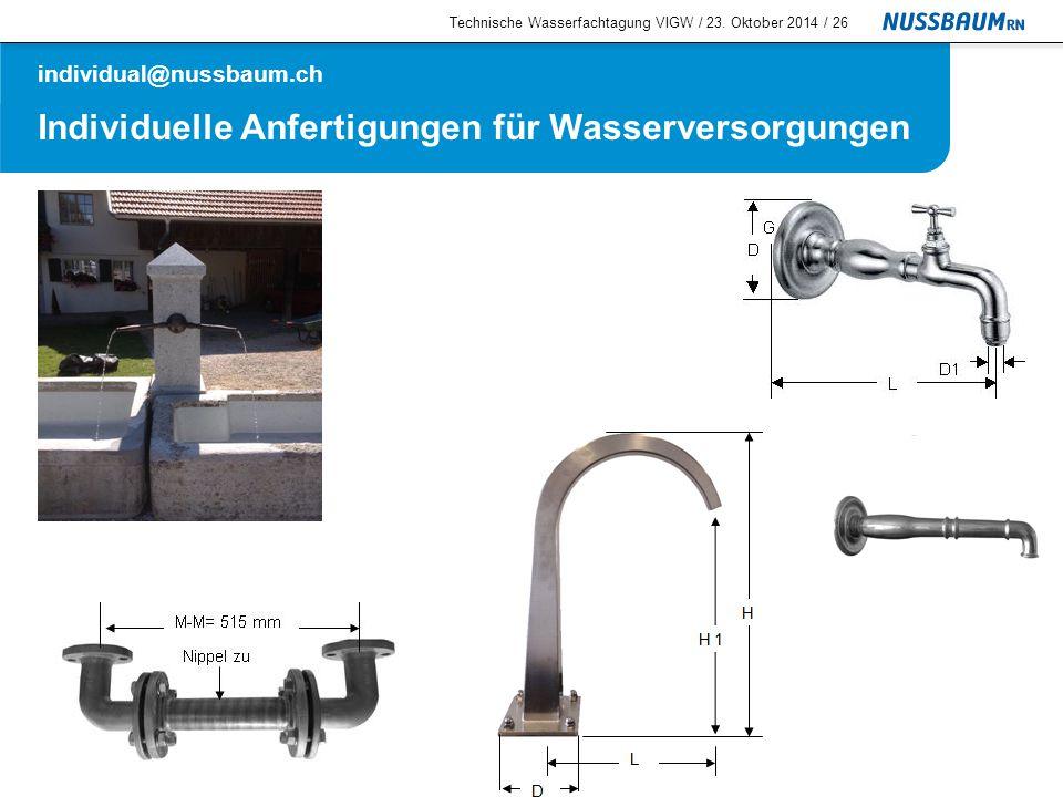 Individuelle Anfertigungen für Wasserversorgungen