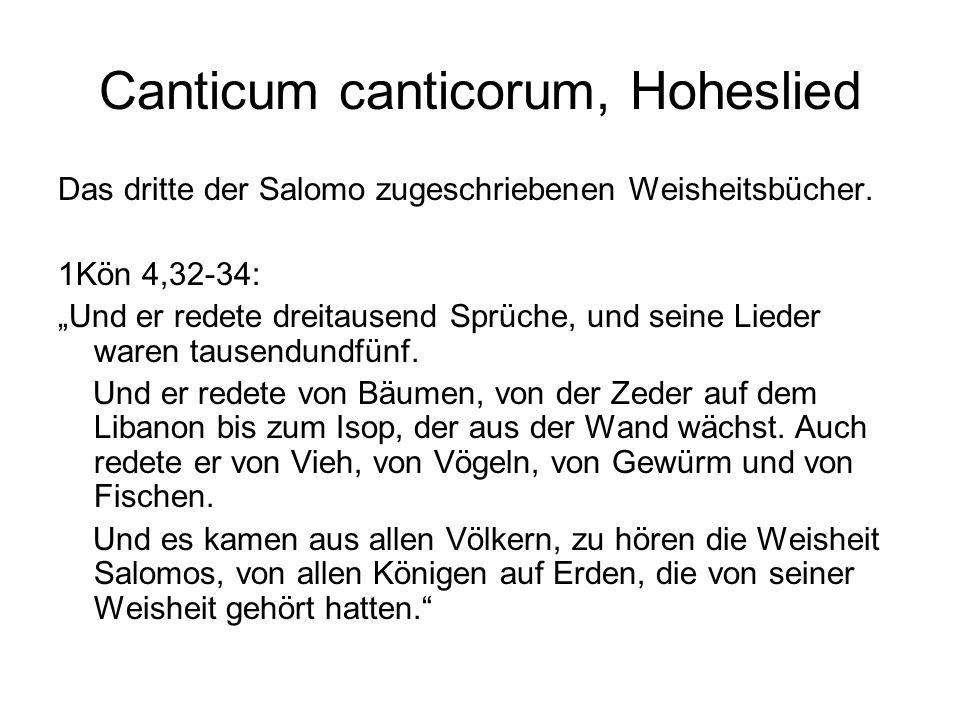 Canticum canticorum, Hoheslied